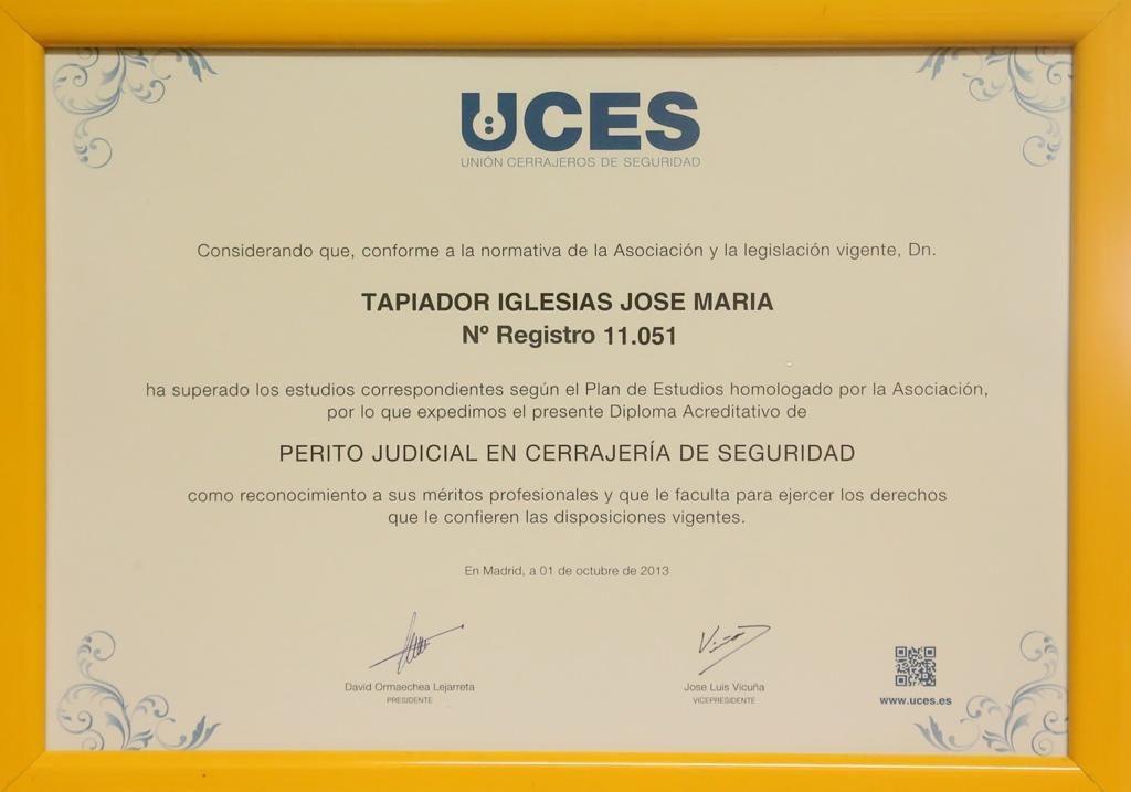 Diplomaacreditativo de UCES_JoseMriaTapiador